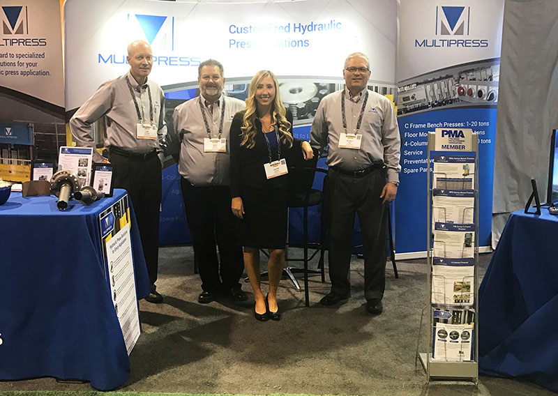 Multipress team at a tradeshow